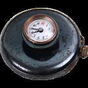Rare Swiss Gunmetal Buttonhole Watch, c1900