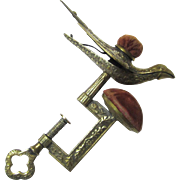 Classic Patented Hemming Bird Clamp, Brass with Two Pin Cushions, c1853