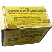 Boxed Eastman Box Brownie No 2A, early 20th Century