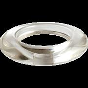 Lucite Bangle Bracelet c1960s Clear