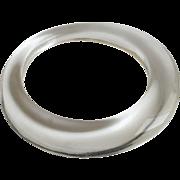 Lucite Bangle Bracelet in an Asymmetrical Shape