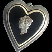 WWII Laminated Liberty Head heart Pendant