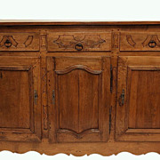 REDUCED 50% off-French 18th c. Louis XVI  Walnut  Buffet  Sideboard Enfilade