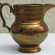 SALE 19th century Copper Luster Pitcher