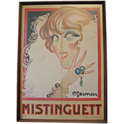 SOLD Large Original French Poster 1920's Mistinguett