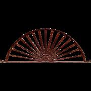 SALE Antique Wrought Iron Architectural Sunburst Arch