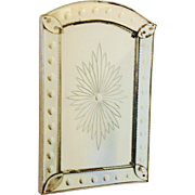 Mid-Century French Deco Starburst Bistro Mirror