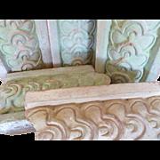 SALE Antique English Terracotta Garden Tiles Flower Garden Edging Borders