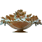 SALE PENDING French Decorative House or Garden Plaque Sign Urn with Flowers