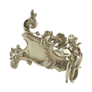 SALE Antique Silver Cherub Menu Holder Neresheimer Import Berthold Mueller
