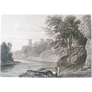SALE Antique Steel Engraving by E Finden Bothweld Castle Circa 1830