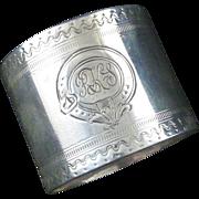 Antique Victorian Era Sterling Silver Child's Napkin Ring Christening Gift