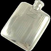 SALE Ladies Sterling Silver Flask Art Deco Liquor or Perfume