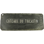 Vintage Wine Stencil for Côteaux du Tricastin Wine Region