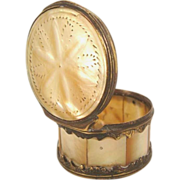SALE Antique Mother of Pearl & Gilt Snuff Box-Late 18th Century