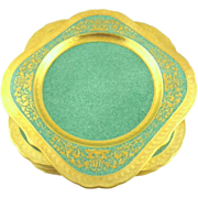 Royal Worcester Encrusted Gilt  Set of 8 Salad/Dessert Plates