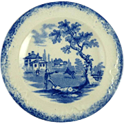 Antique Child's Tea Plates in the Humphrey's Clock Pattern by Ridgway Blue & White ...