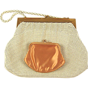 SOLD Vintage Metal Mesh Whiting & Davis Bag with Coin Purse