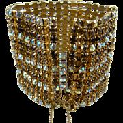 Gorgeous Extra Wide Rhinestone Bracelet