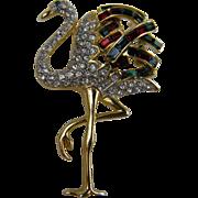 SALE Duchess of Windsor Style Flamingo Brooch