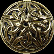 Signed SOL D'OR Celtic Brooch