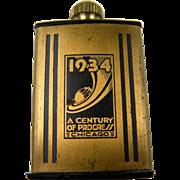 "Rare 1934 Chicago Exposition ""Century of Progress"" Match King Flint Lighter"
