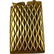 Signed EVANS Quilted Look Cigarette Case with Lighter