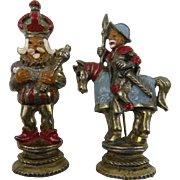 Pair of Whimsical Figurals King and Knight