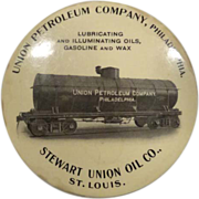 Union Petroleum Company advertising mirror