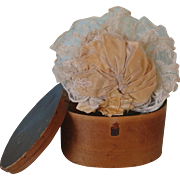 Antique French Bebe Hat and Hat Box