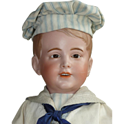 Large SFBJ 237 Sailor Boy with Molded Hair