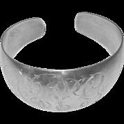 Vintage Sterling Hayward Bracelet Monogrammed Cuff