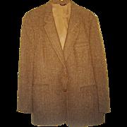 SALE Vintage Oscar de la Renta Donegal Tweed Jacket Coat