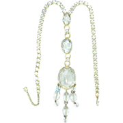 Vintage Alice Caviness Necklace Huge Diamante Rhinestones Crystal Briolettes