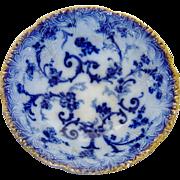Antique Ridgways Gainsborough Vegetable Bowl Flow Blue
