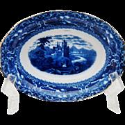 Antique Doulton Flow Blue Watteau Bowl