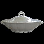Haviland Limoges White Star Pattern Schleiger # 5 Covered Dish Tureen