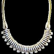 SALE Vintage Machine Age German Esha Randel Necklace Diamante Rhinestone