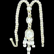 SALE Vintage Alice Caviness Necklace Huge Diamante Rhinestones Crystal Briolettes