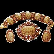 Juliana Marble Bracelet Brooch Earrings Malachite D&E Book Set