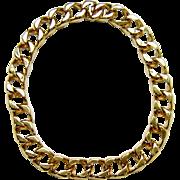 Vintage Ciner Necklace 18K Gold Plated Links