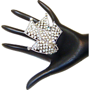 SALE Vintage Mimi Di N Brooch Diamante Rhinestone