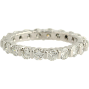 SOLD Eternity Diamond Wedding Band - 14k White Gold Women's Size 6 Genuine 2.00ctw