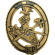 Knights of Pythias - 10k Gold 1800s Antique FCB Pin