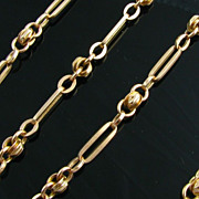 """SOLD 24"""" Antique Hefty Watch Chain Necklace - 14k Solid Yellow Gold 22.7g Vintage"""