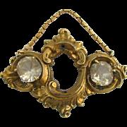 Victorian Pendant - Antique Estate Converted Brooch W/ Chain Fashion