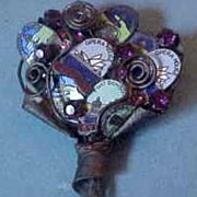 Pierre Cavalan Australia Mixed Media Bouquet Brooch