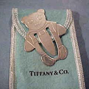 Tiffany & Co. Sterling Silver Teddy Bear Bookmark