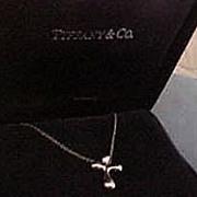Tiffany & Co. Elsa Peretti Platinum Cross Necklace