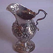 SALE Ornate Kirk & Son Sterling Repousse Creamer